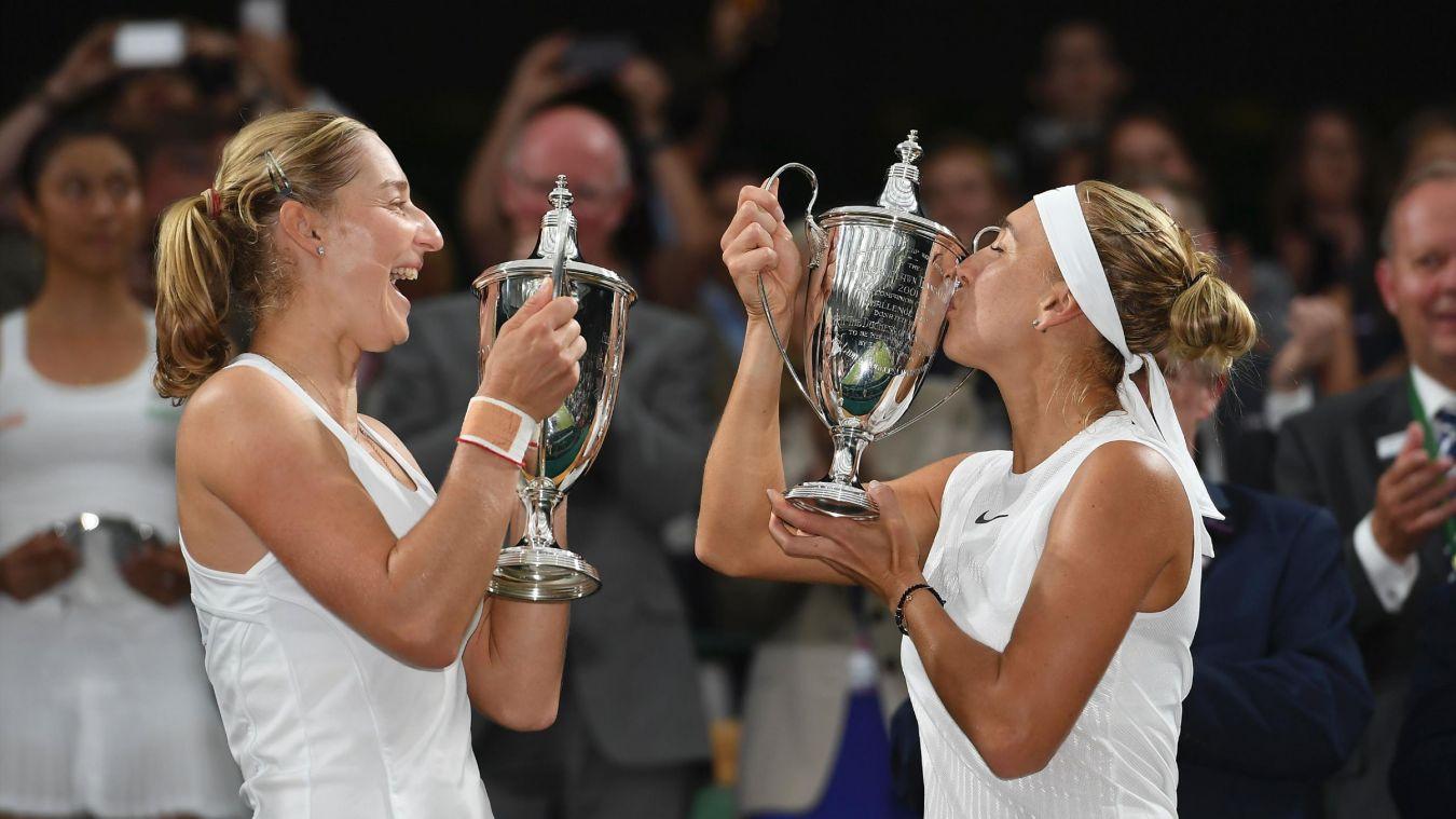 Екатерина Макарова и Елена Веснина выиграли Уимблдон, не отдав соперницам по финалу ни гейма